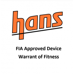 FIA Approved HANS Device Warrant of Fitness