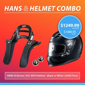HANS III 20 Degree & Helmet Combo