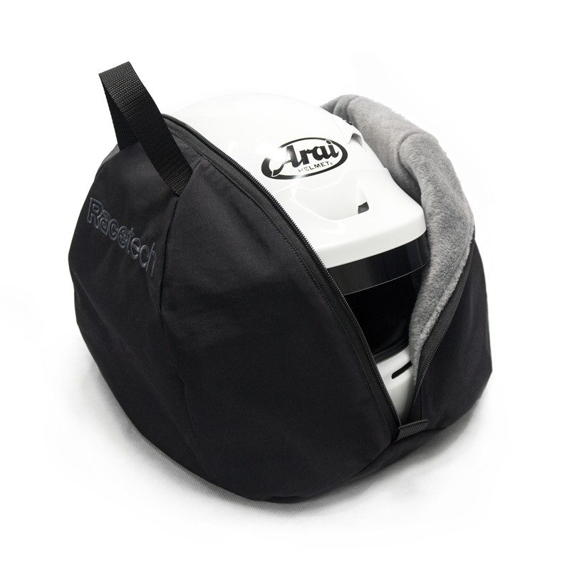 157941a827 ... Helmet Bag  Black with grey fleece lining and  Stealth  Racetech logo  ...