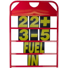 Alloy Pitboard with Numbers