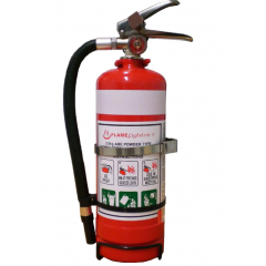 2kg Dry Powder Extinguisher including Single Strap Vehicle Bracket