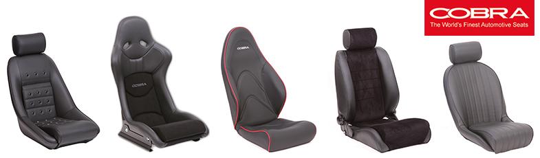 Cobra Uk Classic Seats Racetech New, Aftermarket Muscle Car Seats